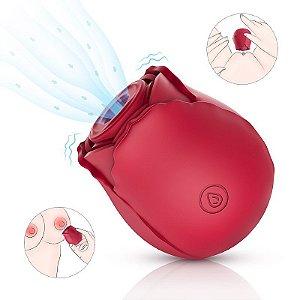 Vibrador Massageador de Clitóris 10 Velocidades S-Hande Midnight Rose - Sexshop