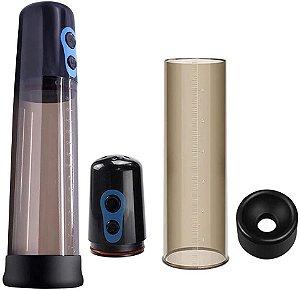Bomba Elétrica Com Sucção Automática em Acrílico Fume 25x6Cm