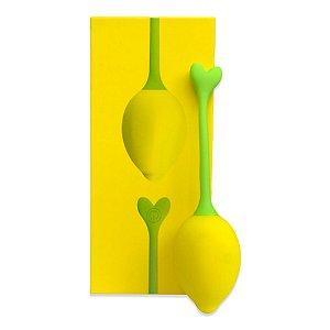 Vibrador Bola de Limão com modo App 10 Modos de vibração USB