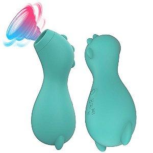 Vibrador e Sugador Clitoriana na forma de Hipopotamo USB