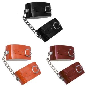Algema Bracelete em Verniz Preta DOMINATRIXXX - Sex shop