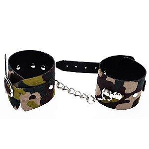Algema Bracelete Luxo Camuflada DOMINATRIXXX - Sex shop