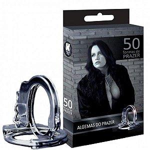 Algema Cromada 50 Formas de Prazer - Sex shop