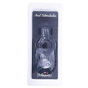 Anel Estimulador com Plug Transparente HotFlowers - Sex shop