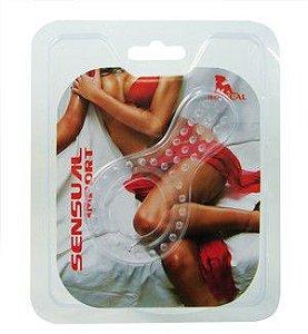Anel para prolongar ereção com estimulador - Sex Shop