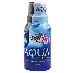 Aqua Extra Luby Loção para Massagem Siliconado 35ml Soft Love - Sexshop