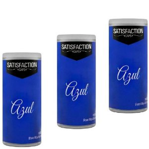 Kit 03 Bolinhas Vaginal Excitante Satisfaction Azul 2 Capsulas Perfumadas