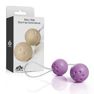 Ben-wa - Conjunto 2 bolas pompoar - Lilás - Sex shop