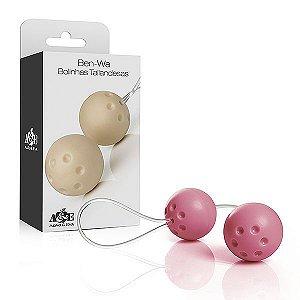 Ben-wa - Conjunto 2 bolas pompoar - Rosa - Sex shop