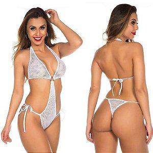 Body Arrastão Lacradora Branco Pimenta Sexy