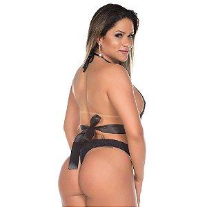 Body Deusa do Amor Pimenta Sexy Preto - Sexshop