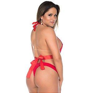 Body Deusa do Amor Pimenta Sexy Vermelho - Sexshop