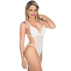 Body Sensual Devassa Branco Pimenta Sexy - Lingerie