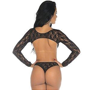 Body Sensual Escândalo Preto Pimenta Sexy - Sex