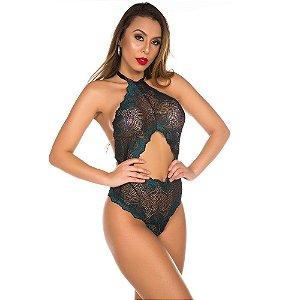 Body Sensual Perfect Preto com Verde Pimenta Sexy