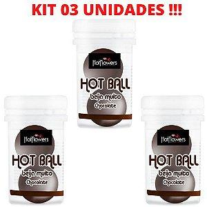 KIT 03 BolinhaS Beija Muito Chocolate HotFlowers – Sexshop