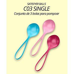 Bolinha Pompoarismo SATISFYER BALLS - Com 03 SINGLE - Sexshop