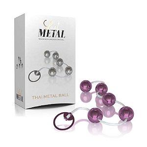 Bolinha Tailandesa De Pompoar - Thai Metal Ball - Lilás