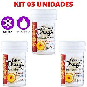 Kit 03 Bolinhas Esferas Do Dragão Hot Ball Plus – Hot Flowers – Sexshop