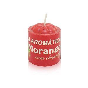 Vela Aromática Morango com Chantilly - Sexshop
