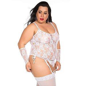 Camisete Liga Plus Size Pimenta Sexy Branca - Sexshop