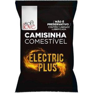 Camisinha Eletric Plus Solúvel Soft Love - Sex shop