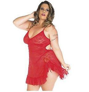 Camisola Encanto Plus Size Pimenta Sexy Preta - Sex shop