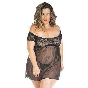 Camisola Gabriela Plus Size Pimenta Sexy Pink - Sexshop