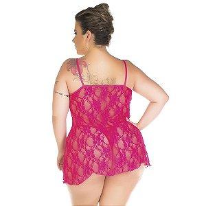Camisola Gigi Plus Size Pimenta Sexy Pink - Camisola Sexy