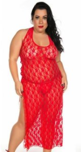 Camisola Lua De Mel Plus Size Pimenta Sexy Vermelho - Sexshop