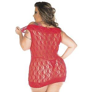 Camisola Malícia Plus Size Pimenta Sexy Preta - Camisola