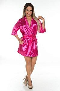 Camisola Robe Cetim Curto Pink Pimenta Sexy - Sex shop