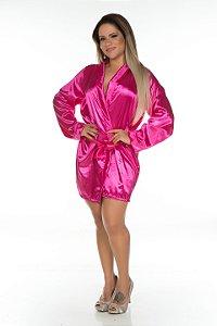 Camisola Robe em Cetim Pink Pimenta Sexy - Sex shop