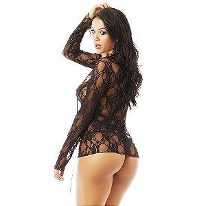 Camisola Sensual Desejo Pimenta Sexy Preta - Camisola Sexy