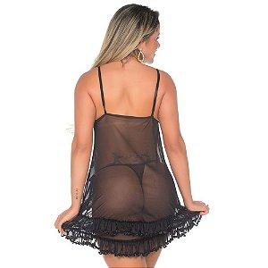 Camisola Sensual Luxúria Preta Pimenta Sexy - Camisola Sexy