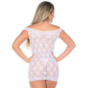Camisola Sensual Malícia Pimenta Sexy Branca - Sex shop
