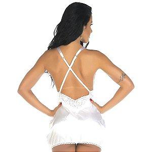 Camisola Sensual Paixão Pimenta Sexy Branca - Camisola Sexy