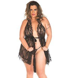 Camisola Sensual Plus Luxo Pimenta Sexy Preta - Sex shop