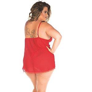 Camisola Sensual Plus Size Carol Pimenta Sexy Preta - Sexshop