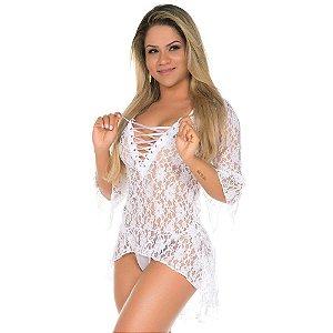 Camisola Sensual Princesa Pimenta Sexy Branca - Sex shop
