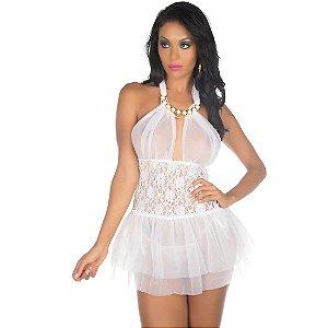 Camisola Sexy Afrodite Branca Pimenta Sexy - Camisola Sexy
