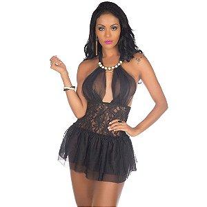 Camisola Sexy Afrodite Preto Pimenta Sexy - Camisola Sexy