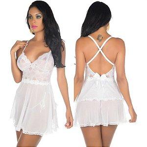 Camisola Sexy Secret Branca Pimenta Sexy - Camisola Sensual