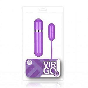 Cápsula vibratória lilás 10 velocidades com luz de Led - VIRGO - NANMA - Sexshop