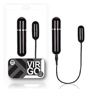 Cápsula vibratória preta 10 velocidades com luz de Led - VIRGO - NANMA - Sex shop