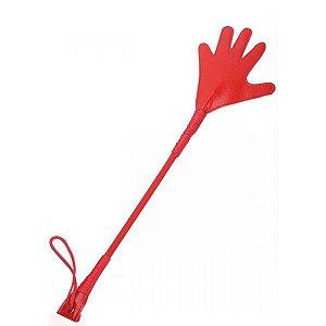 Chibata na forma de mãozinha Vermelha - Sexshop