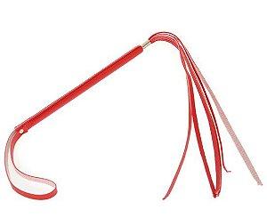 Chicote fino com 6 tiras feito em couro vermelho Ktoy - Sexshop