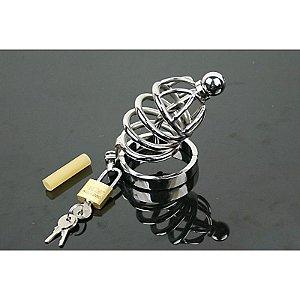 Cinto de Castidade com Anéis - Argola de 4cm - Sexshop