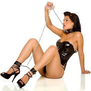 Coleira e Tornozeleira Erótica - Sexshop