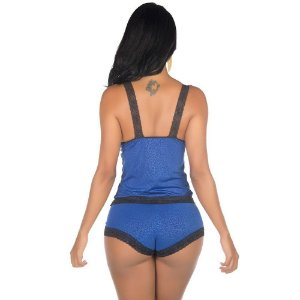 Conjunto Sex Fascínio Azul Pimenta Sexy - Sexshop